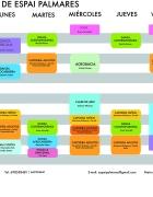 Aquí el horario de clases de Espai Palmares en Barcelona